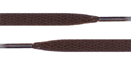"Flat Shoelaces 5/16"" Wide Solid Colors Several Lengths For Sneakers and Shoes (Brown-45)"