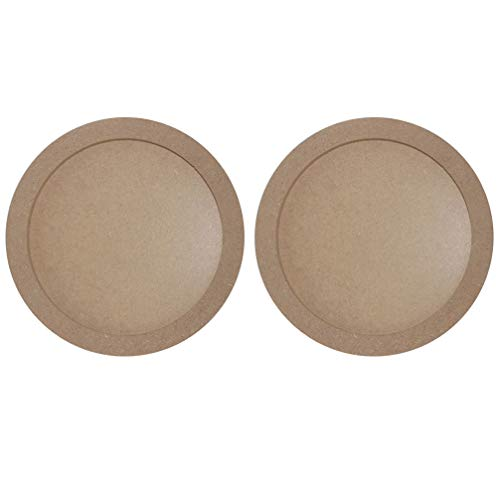 Artibetter 2pcs DIY Wood Photo Frames Round Shaped Clay Picture Display Frames Handcraft Arts Display Showcase Holders Kids Children Handmade Frames (19.5cm)