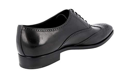 Prada Hombres 2eb124 Zapatos De Cuero De Brogue Completo