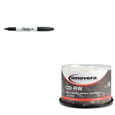 KITIVR78850SAN30001 - Value Kit - Innovera CD-RW Discs (IVR78850) and Sharpie Permanent Marker (SAN30001)