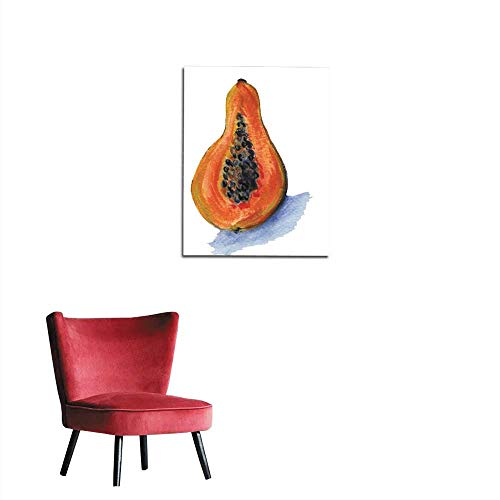 (longbuyer Art Stickers Papaya with Background Mural 16