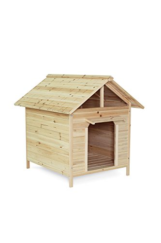 Dibea DH10014 Wooden Dog House Kennel in Mixed Brown