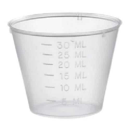 Vaso medidor de Medicina 30 ml x 100 Polietileno.