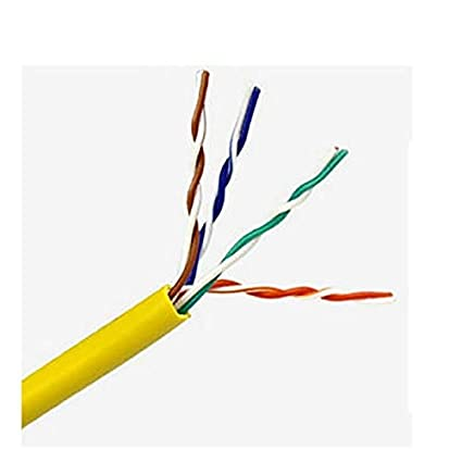 Meiyiu Network Cable Network Jumper Ultra-Five Network Cable Computer Ethernet Cable Yellow 30 m