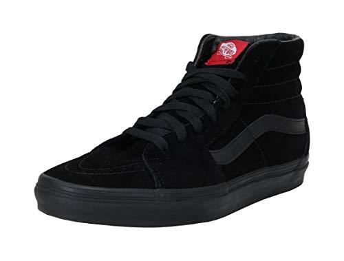Vans Sk8-hi Unisex Adults' Hi-Top Sneakers, Black/Black, 6 M US Women/ 4.5 M US Men