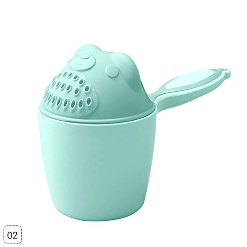 Niome Cute Bear Kids Shampoo Shield Shower Cup Baby Bath Toys Tub Bathroom Accessories Pink from Niome