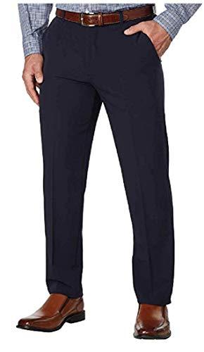 IZOD Men's Performance Stretch Straight Dress Pant, Sea Navy (34 x - Izod Slacks