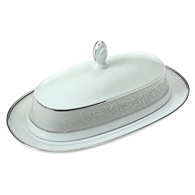 Mikasa Parchment Covered Butter Dish