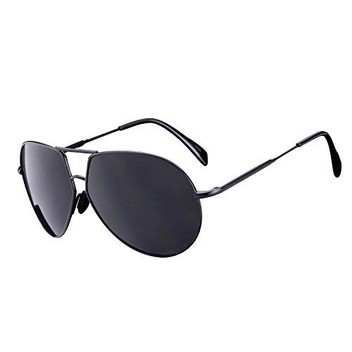 HDCRAFTER Men Retro Polarized Fashion Driver Sunglasses Metal - Sunlight Adjust To Sunglasses That