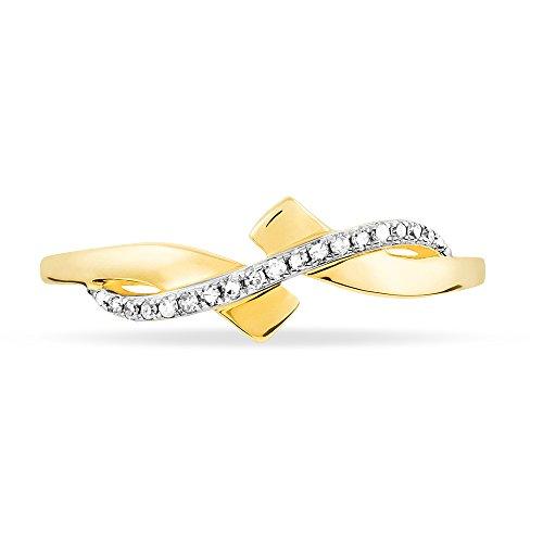 HISTOIRE D'OR - Bague Beata Or Jaune et Diamant - Femme - Or jaune 375/1000