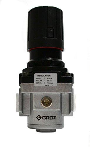 """Groz 60054 Air Regulator Standard - ½"""" NPT -140 CFM"""
