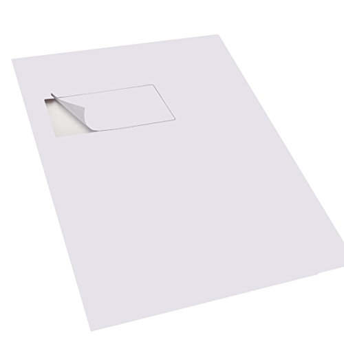 Triplast 110 x 80 mm A4 Integrated Labels Address Peel Off Dispatch Notes Packing Slips - White (Pack of 1000)