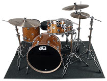 Auralex HoverMat in use with drum kit