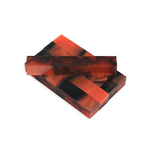 Legacy Woodturning, Acrylic Pen Blank, Coral with black line, 5