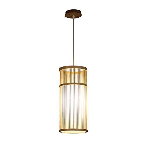 (Hand-Woven Single-Head Bamboo Chandelier Living Room Restaurant Bar Entrance Corridor Decorative Pendant)