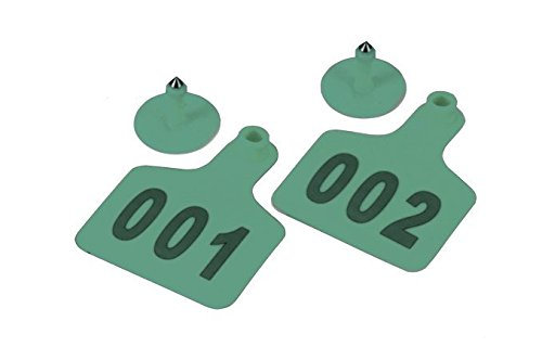 Amazon.com : Pack of 100 Cattle Ear Tag with Words From 001 to 100 Green : Pet Supplies