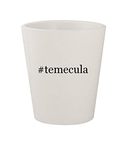 #temecula - Ceramic White Hashtag 1.5oz Shot Glass