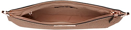 New Look Damen Flitter Curve Flat Clutch, Gold, 1x18x32.5 cm