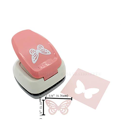 Butterfly Paper Punch - 1.5 inch Butterfly Silhouette Craft Lever Punch for Scrapbooking Cards Paper Arts (Butterfly)
