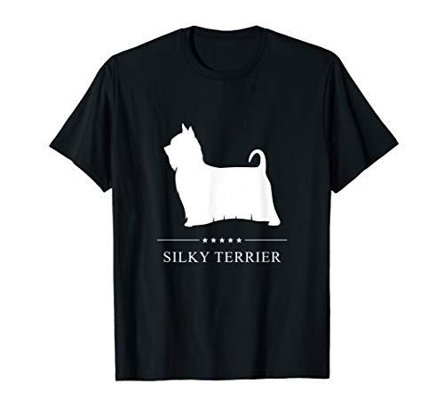 Silky Terrier : White Silhouette T-Shirt