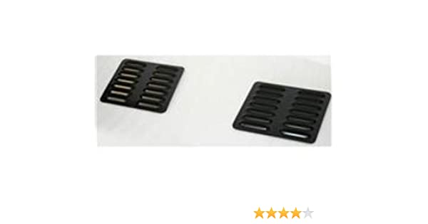 Short Hood Louver Vent Set For Jeep Cherokee Wrangler Universal Fits Any Vehicle GenRight Off Road LVR-1005 Black 2 Piece