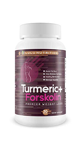 Turmeric + Forskolin - Forskolin Keto Complete - Premier Weight Loss - Block Fat and Lose Weight with The Blended Power of Turmeric + Forskolin