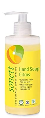 Sonett Organic Hand Soap for Face and Whole body (3 Pack) Citrus, Lavender and Rose (3 x 10.14oz Pump Bottles)
