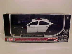 2013 Ford Taurus Police Interceptor Die-cast Car 1:24 Unmarked 8inch Black - Police Ford Taurus Car