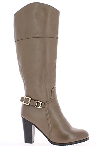 Lined black to 8.5 cm heel women boots