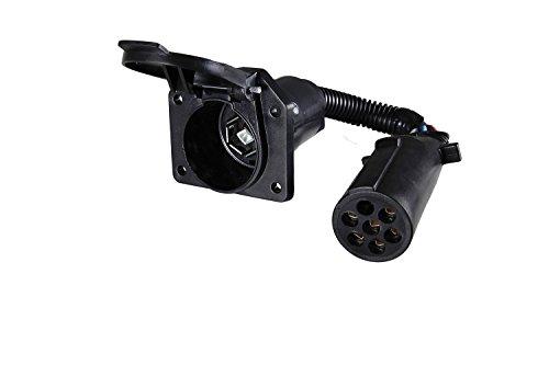(Hopkins 47425 7 Pin Round to 7 RV Blade Adapter)