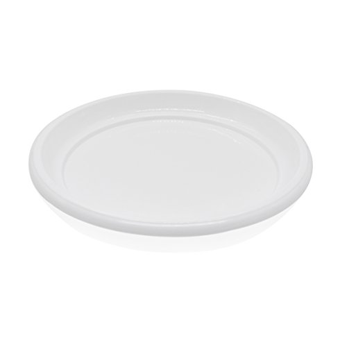 coisound 1688 Round Plastic Plants Pot Saucer Trays,for holding Soil and Water Drips -5 Pack of 10 Excellent For Indoor & Outdoor Plants (White) by coisound 1688