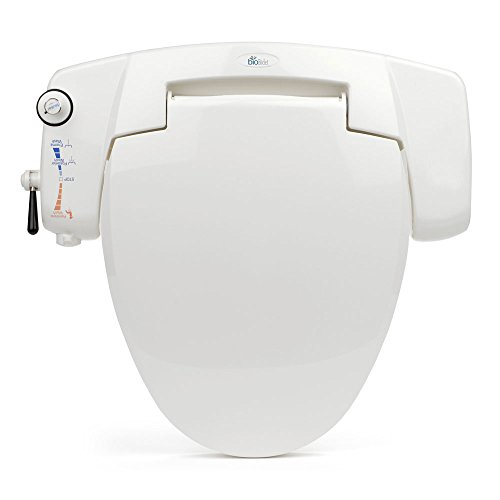 BB I3000 BioBidet Premium Non Electric Bidet Seat For Elongated Toilets Whit