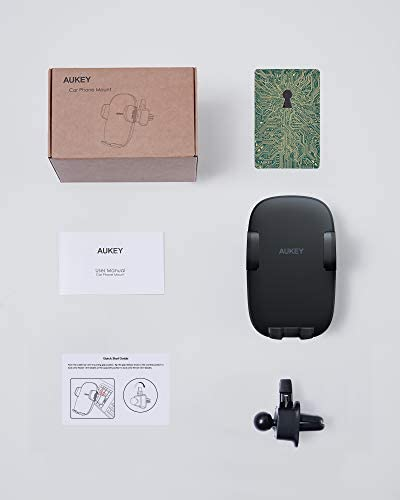 2021 Upgraded AUKEY Phone Car Holder with Stronger Vent Clip, Hands Free Cell Phone Holder for Car, Universal Air Vent Car Phone Mount