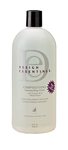 Design Essentials Compositions Foaming Wrap Lotion for Relaxed & Natural Hair - 32 Oz