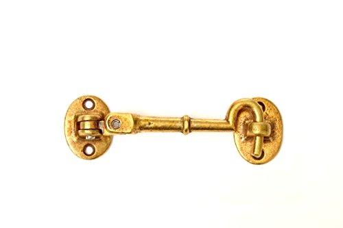Industrial Cast Brass Cabin Door Hook (6 INCHES) ()
