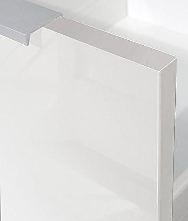 Berlenus CP8BB Meuble Bas de Cuisine avec 2 Portes Blanc Haute Brillance 80 x 52 x 83 cm