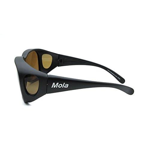 7d12ab4ed50 new MOLA fit over polarized sunglasses Large clip on prescription glasses  driving fishing