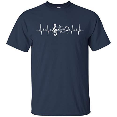 CHICKSHOU Music Frequency T-Shirt Navy