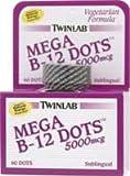 TWINLAB B-12 DOTS MEGA 5000MCGS For Sale