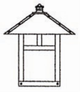 Craftsman Outdoor Ceiling Lights - 8