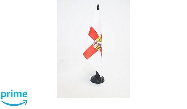 AZ FLAG Bandera de Mesa de la Provincia DE Zaragoza 21x14cm ...
