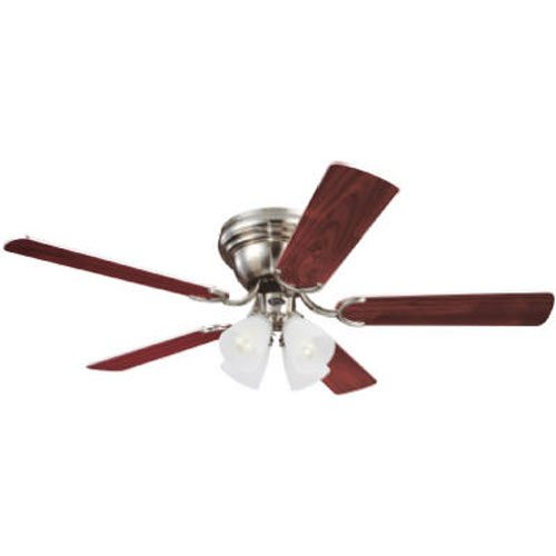 Westinghouse 7861600 Contempra IV Four-Light 52-Inch Five-Blade Ceiling Fan, Brushed Nickel with Frosted Ribbed Globes