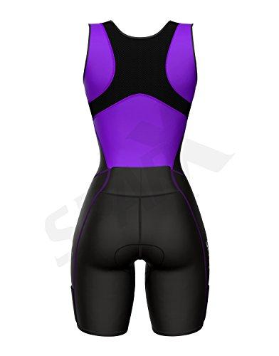 Sparx Women Triathlon Suit Tri Short Racing Cycling Swim Run (Small, Purple) by Sparx Sports (Image #4)