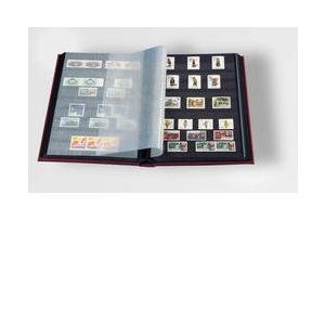 Stamp Album Stockbook by Lighthouse 32-Black Page Stamp Stock book LS2/16 Black (Size: 6 1/2'x 9')