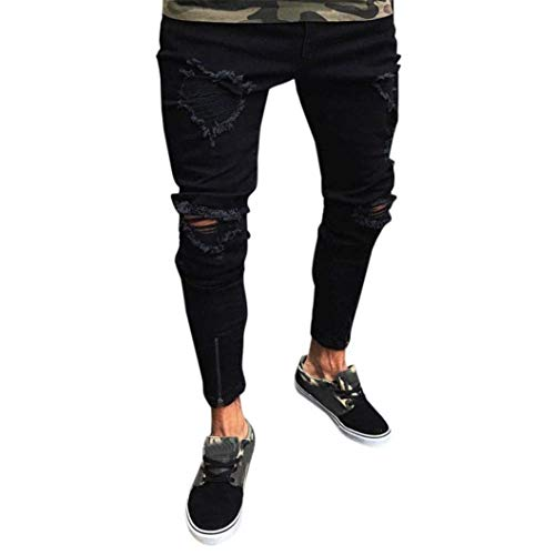 Pantaloni Uomo Comodo Slim Fit Battercake E 7 Skinny Da Colour Denim Destroyed Stretch Jeans ZapwffHqA