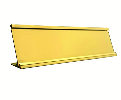 Desktop Office Nameplate Holder, Yellow Gold (10