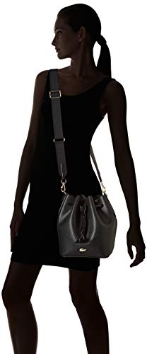 Porté Noir Nf2561ce Sac Lacoste Épaule Black qnEPwB