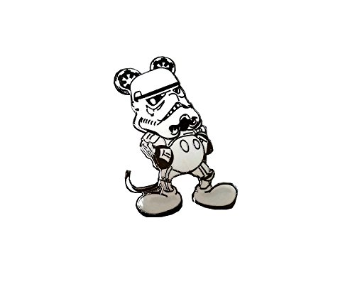 Lapel Pin Stormtrooper Mickey Mouse Mash-up Disneyland Star Wars Hand Made Comic-Con Exclusive -