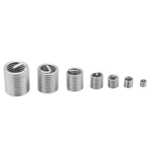 60pcs//Lot Wire Thread Insert Bushing Screws Sleeve Stainless Steel M3-M12 Repair Insert Kit Fastener Connection Tools