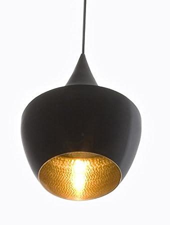 Tom Dixon Pendelleuchte Lampe Beat Fat Black Schwarz Gold
